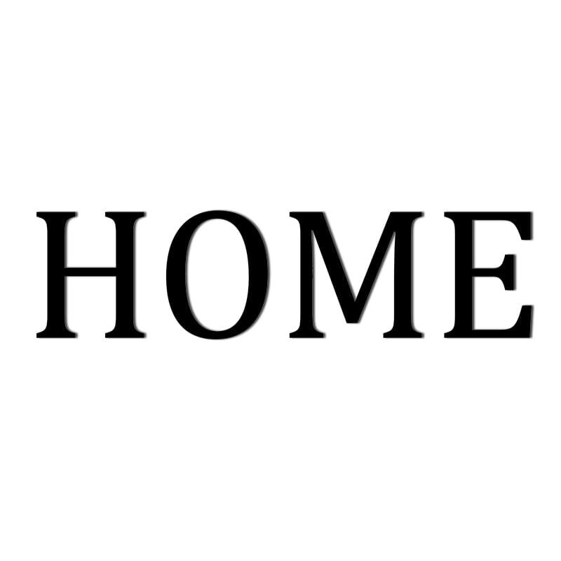 Napis na ścianę HOME osobne litery czarny