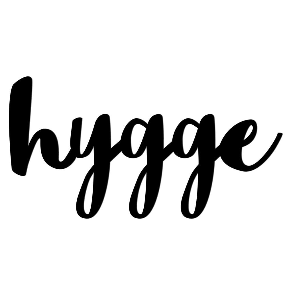 Napis na ścianę HYGGE czarny