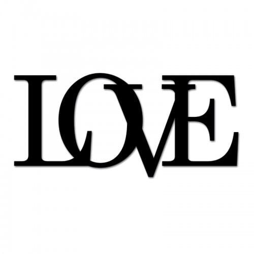 Napis na ścianę LOVE czarny Wzór 2