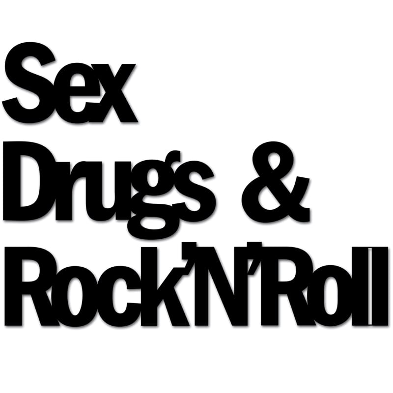 Napis na ścianę SEX DRUGS & ROCKnROL