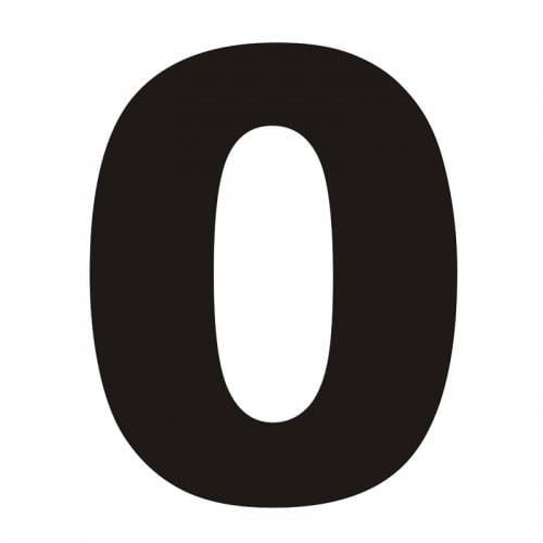 Numer na dom 0 czarny