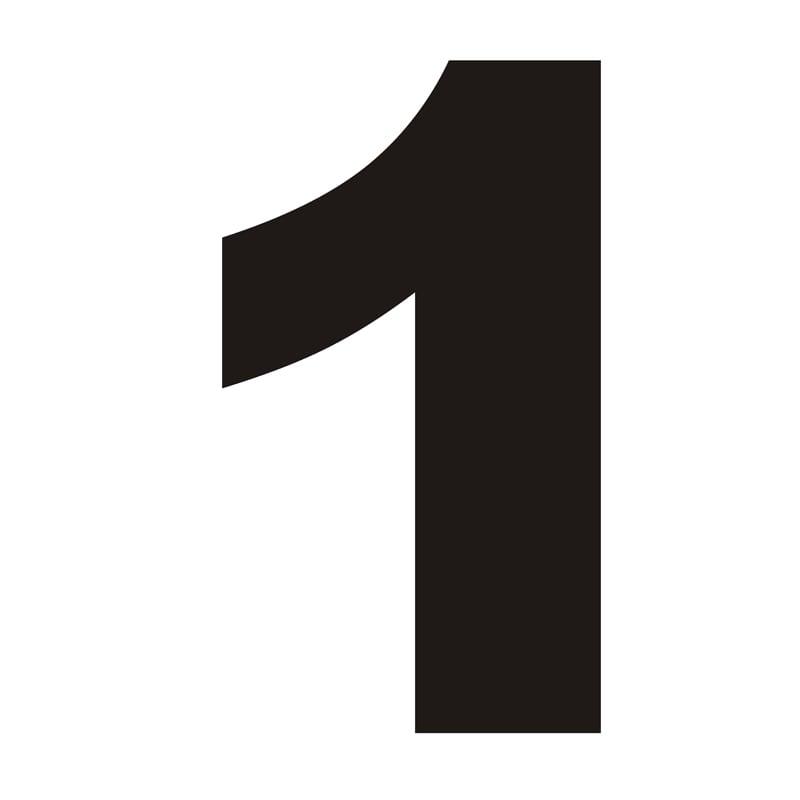 Numer na dom 1 czarny