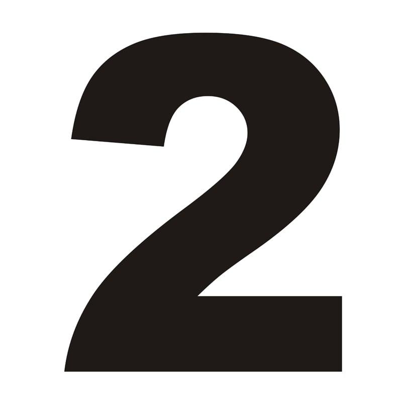 Numer na dom 2 czarny