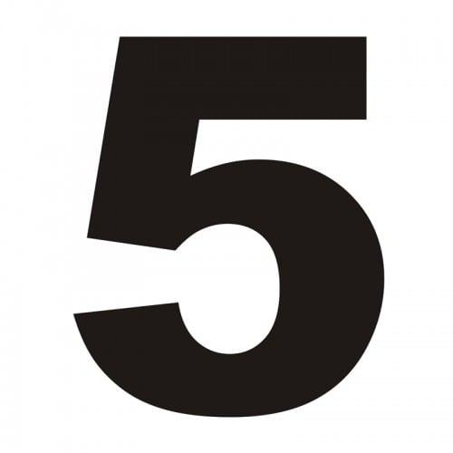 Numer na dom 5 czarny