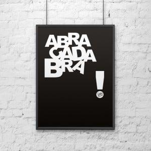 Plakat dekoracyjny 50x70 cm ABRACADABRA czarny