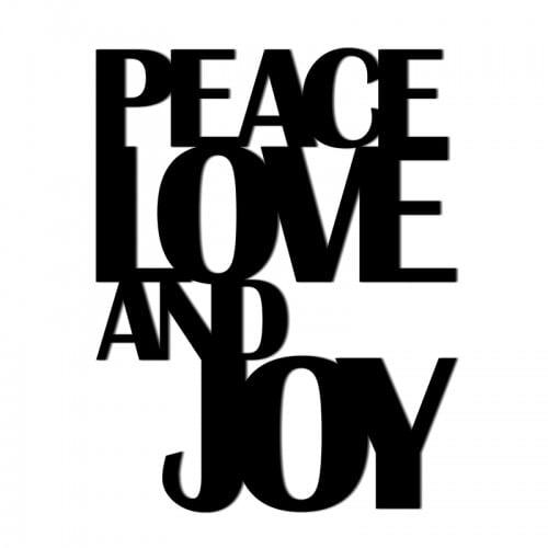 Świateczny napis na ścianę PEACE LOVE AND JOY