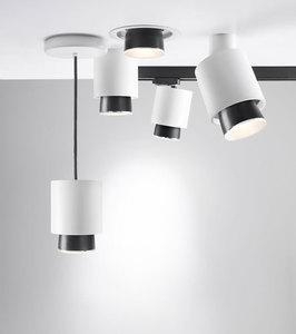 Lampa wisząca Fabbian Claque F43 13W 10cm - Biały - F43 A01 01 small 1