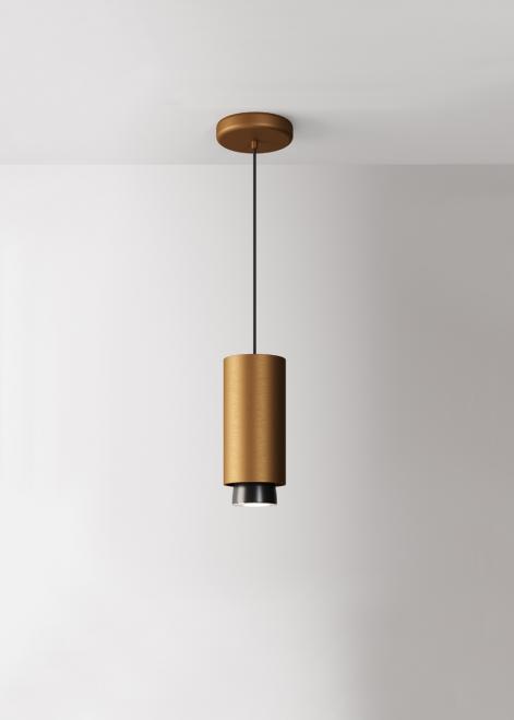 Lampa wisząca Fabbian Claque F43 20W 20cm - Brąz - F43 A04 76