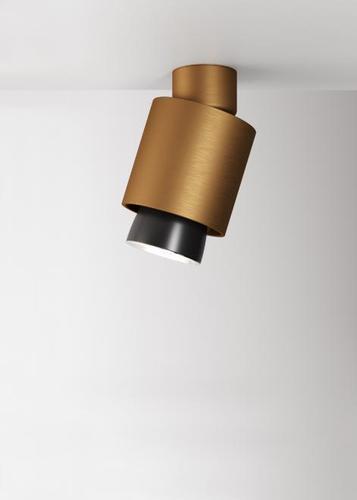 Reflektorek Fabbian Claque F43 20W Ruchomy - Brąz - F43 E07 76