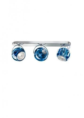 Plafon Fabbian Beluga Colour D57 7W Potrójny - niebieski - D57 G25 31