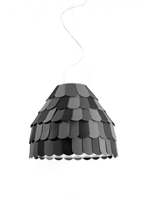 Lampa wisząca Fabbian Roofer F12 57cm - antracyt - F12 A01 21