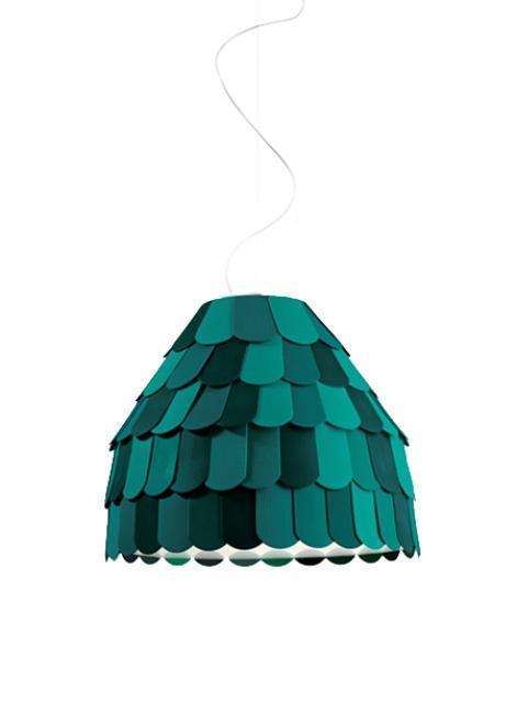 Lampa wisząca Fabbian Roofer F12 57cm - Zielony - F12 A01 43