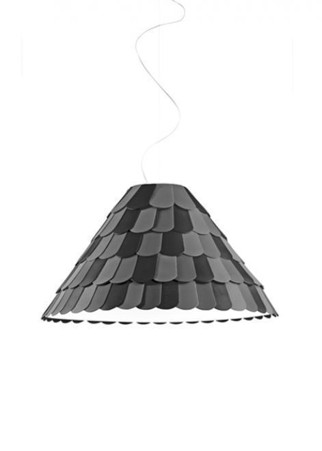 Lampa wisząca Fabbian Roofer F12 76cm - antracyt - F12 A03 21