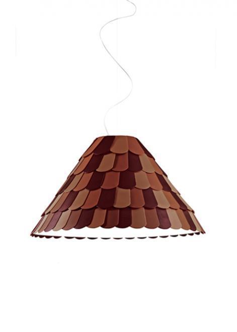 Lampa wisząca Fabbian Roofer F12 76cm - pomarańczowy - F12 A03 32