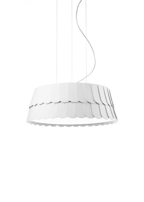 Lampa wisząca Fabbian Roofer F12 13W 59cm - Biały - F12 A05 01