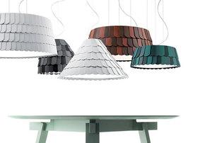 Lampa wisząca Fabbian Roofer F12 59cm - Zielony - F12 A05 43 small 1