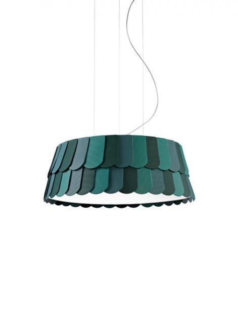 Lampa wisząca Fabbian Roofer F12 59cm - Zielony - F12 A05 43