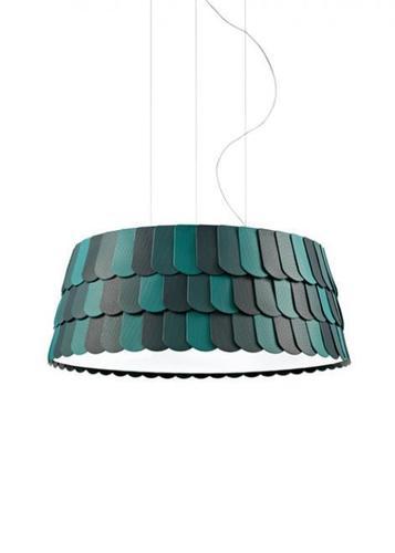 Lampa wisząca Fabbian Roofer F12 79cm - Zielony - F12 A07 43