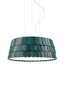 Lampa wisząca Fabbian Roofer F12 79cm - Zielony - F12 A07 43 small 0