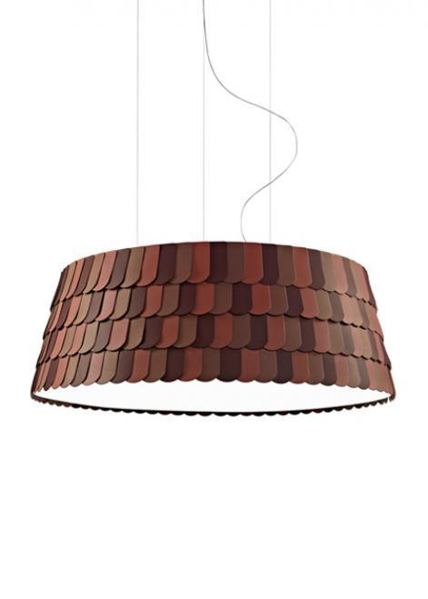 Lampa wisząca Fabbian Roofer F12 119cm - pomarańczowy - F12 A09 32