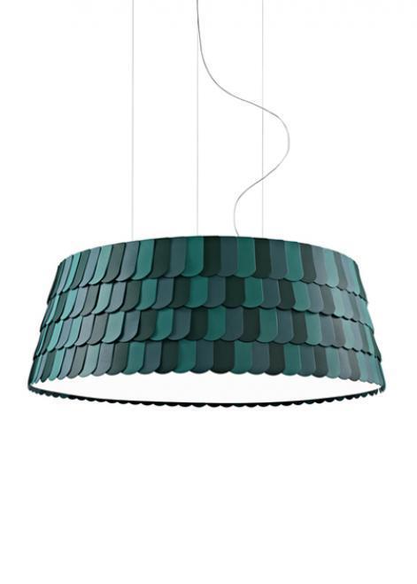 Lampa wisząca Fabbian Roofer F12 119cm - Zielony - F12 A09 43