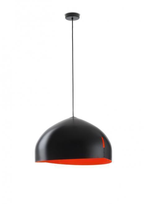 Lampa wisząca Fabbian Oru F25 56cm - Czarny oraz czerwony - F25 A03 03