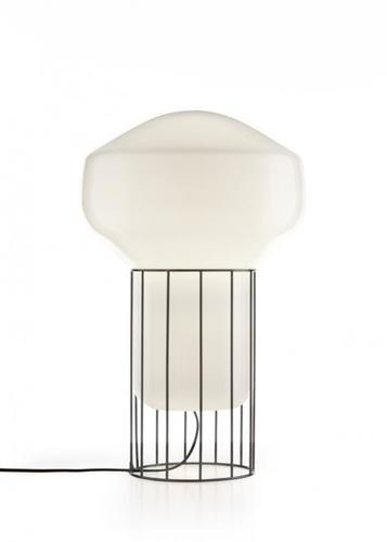 Lampa stołowa Fabbian Aérostat F27 33cm - czarny chrom - F27 B03 24
