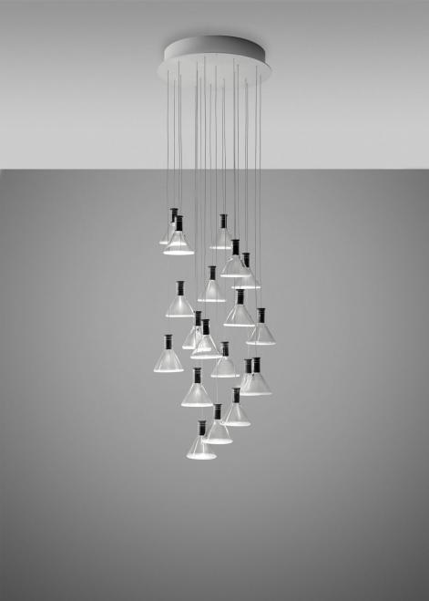 Lampa wisząca Fabbian Multispot F32 39cm - 20 - Chromowany - F32 A44 00