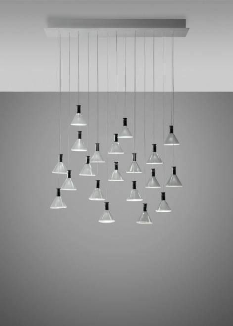 Lampa wisząca Fabbian Multispot F32 90x15cm - 20 - Chromowany - F32 A49 00