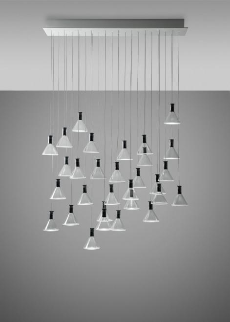 Lampa wisząca Fabbian Multispot F32 90x15cm - 30 - Chromowany - F32 A50 00