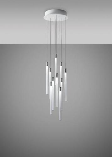 Lampa wisząca Fabbian Multispot F32 31cm - 10 - Chromowany - F32 A03 00