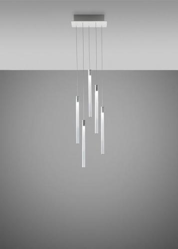Lampa wisząca Fabbian Multispot F32 30x15cm - 5 - Chromowany - F32 A07 00