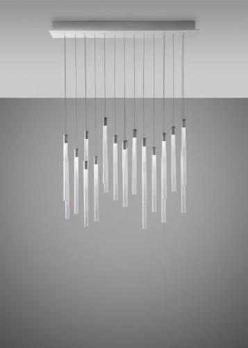 Lampa wisząca Fabbian Multispot F32 90x15cm - 20 - Chromowany - F32 A09 00