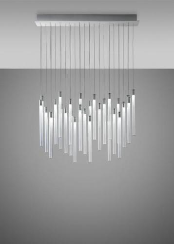 Lampa wisząca Fabbian Multispot F32 90x15cm - 30 - Chromowany - F32 A10 00