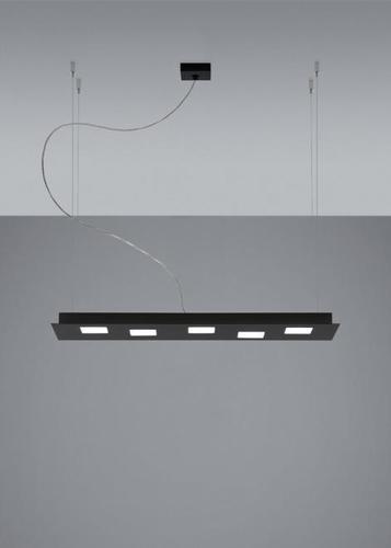 Lampa wisząca Fabbian Quarter F38 5W 70x20cm - Czarny - F38 A01 02