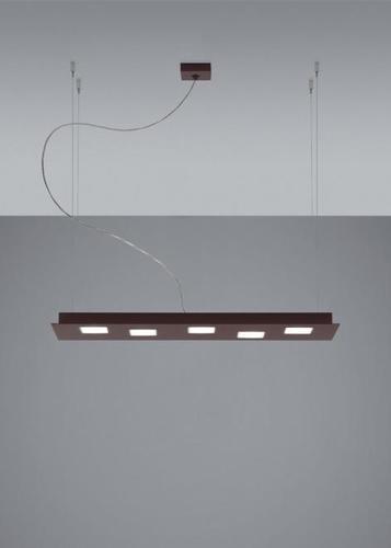 Lampa wisząca Fabbian Quarter F38 5W 70x20cm - Brąz - F38 A01 14