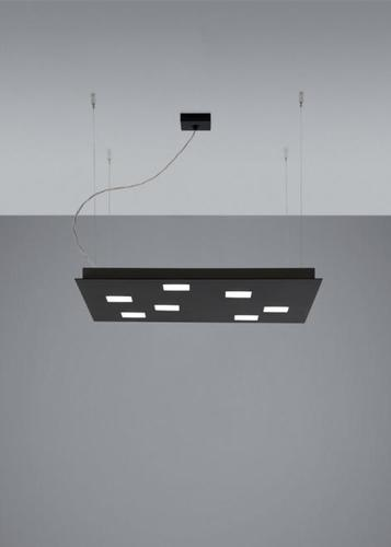 Lampa wisząca Fabbian Quarter F38 5W 59,5x59,5cm - Czarny - F38 A03 02