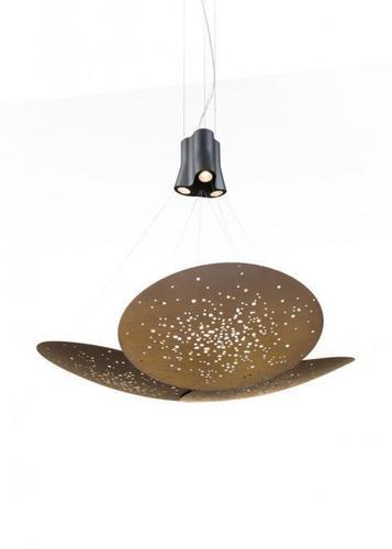 Lampa wisząca Fabbian Lens F46 24W 161x152cm - Brązowy - F46 A07 76
