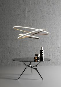 Lampa wisząca Fabbian Olympic F45 56W 80,2cm 3000K - Biały - F45 A01 01 small 0