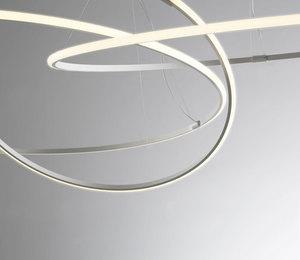 Lampa wisząca Fabbian Olympic F45 98W 138,7cm 2700K - Biały - F45 A06 01 small 8