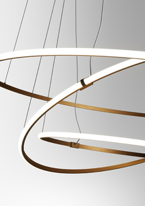 Lampa wisząca Fabbian Olympic F45 56W Potrójna 2700K - Brąz - F45 A12 76 small 9