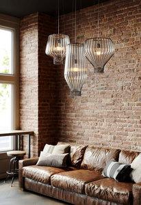 Lampa wisząca Fabbian Saya F47 22W 40cm - biały oraz brazowy - F47 A09 01 small 2