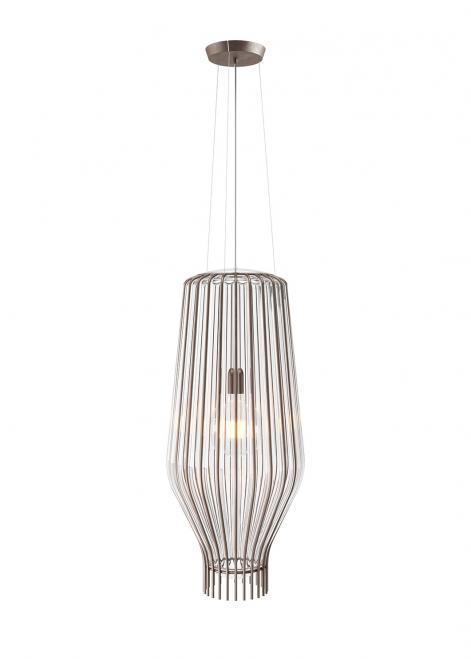 Lampa wisząca Fabbian Saya F47 22W 31cm - Brązowy oraz przeźroczysty - F47 A18 00