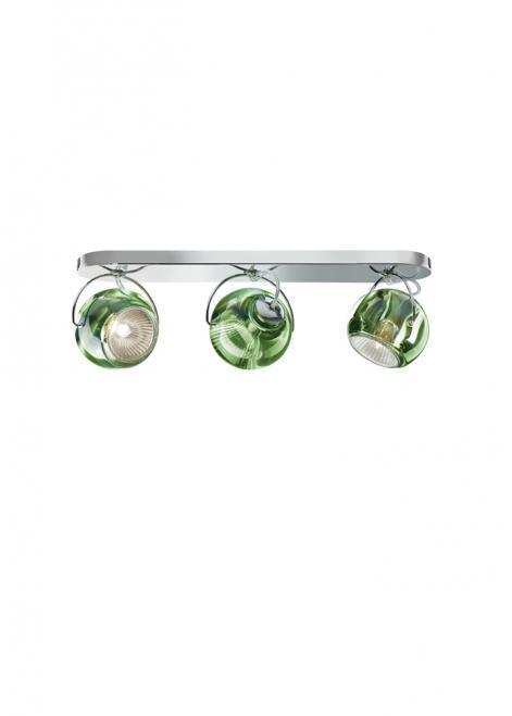 Plafon Fabbian Beluga Colour D57 7W Potrójny - Zielony - D57 G25 43