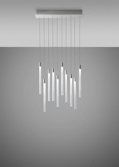Lampa wisząca Fabbian Multispot F32 60x15cm - 10 - Chromowany - F32 A08 00