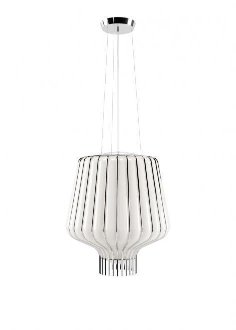 Lampa wisząca Fabbian Saya F47 22W 40cm - biały oraz chromowany - F47 A11 01