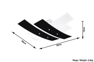 Biały/czarny Plafon ANDREA 50 SL.0199 small 4