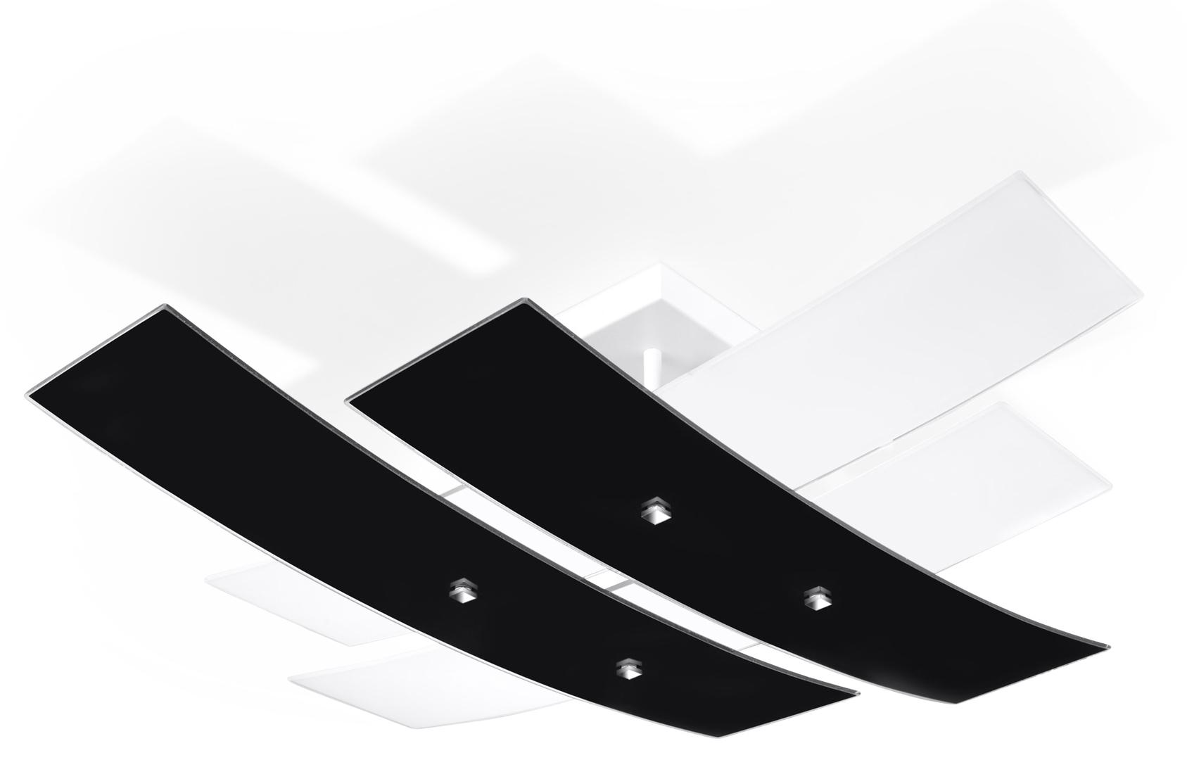 Biały/czarny Plafon ANDREA 50 SL.0199