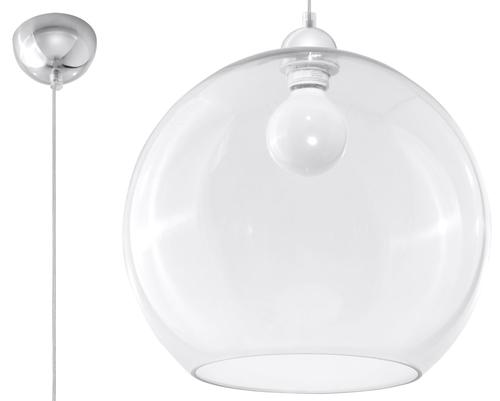 Transparentna Lampa Wisząca MARCO Transparentny