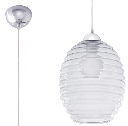 Transparentna Lampa Wisząca ALVARO Transparentny SL.0275